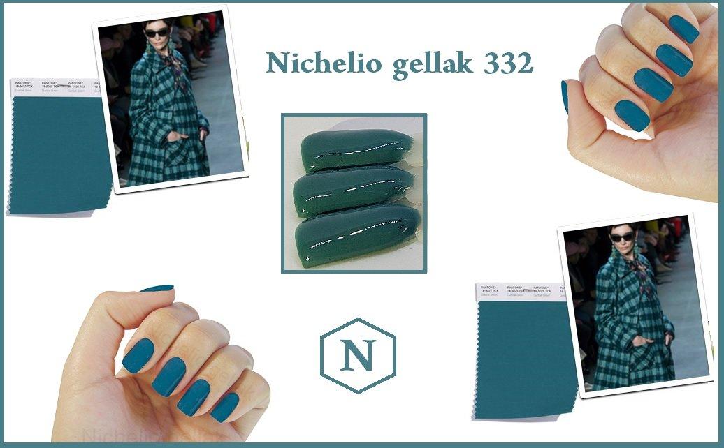 Mode kleur winter 2018 Nichelio gellak 332 Petrol kleur