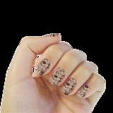 Nichelio soak off gellak - splatter pink-black-white