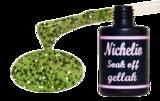 Nichelio soak off gellak - green glitter