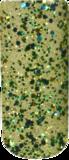 Nichelio soak off gellak - blue green yellow glitter
