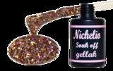 Nichelio soak off gellak - pink purple orange glitter
