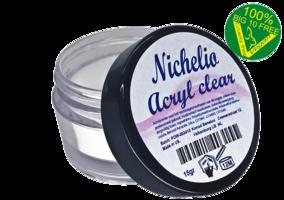 Nichelio tipndip acryl poeder clear - (vegan)