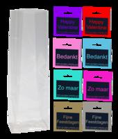 30 x blokzakje + label - eigen opdruk