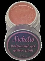 Polyacrylgel - glitter Pink - (vegan)