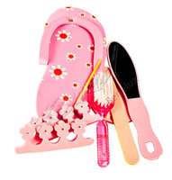 Manicure en pedicure set rose