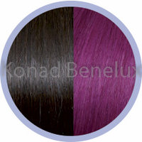 Hair extension Seiseta  4/red violet Bruin-rood-violet