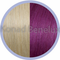 Hair extension Seiseta  20/red violet Zeer licht blond/rood violet