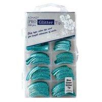 Konad Glittertips Blauw-Groen