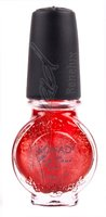 Large Nail top coat glitter pink Top coat red