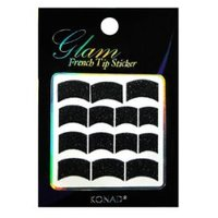 Glam French Sticker - Black