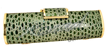 Gala tas dark green croc