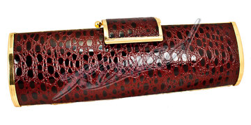 Gala tas dark red croc