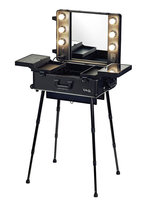 Mobiele make-up werkstation zwart
