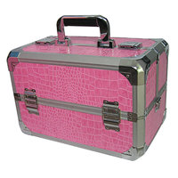 Professional Pink Croc Beauty Case