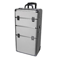 Professional White Croc Trolley Case 2 wheel White
