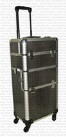 Professional gun metal Croc Trolley Case 4 wheels Gun metal