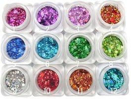 Multi glitter set 12