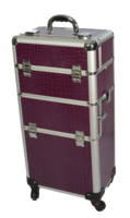 Professional paars  Croc Trolley Case 4 wheels