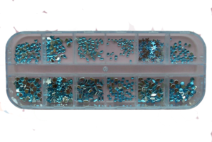 RNAR-39 Light Blue strass steentjes