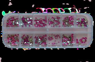 RNAR-42 Rose strass steentjes