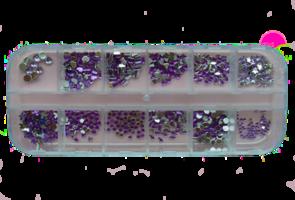 RNAR-35 paars strass steentjes