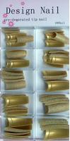 Tips glitter goud
