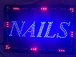 Led licht bord Nails