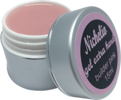 Nichelio Builder gel extra pink 15 ml hard gel