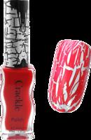Konad crackle polish - red