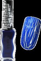 Konad crackle polish - blue