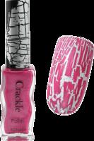 Konad crackle polish - Pinky violet
