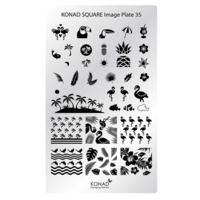 Square image plate 35