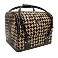 Beauty case tas xl retro zwart wit
