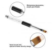 Gel ombre nailart penseel wit met strass