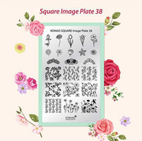 Square image plate 38