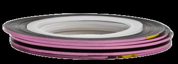 Tape line 1 - light pink shimmer - 1mm