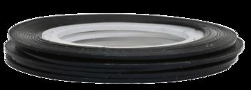 Tape line 3 - black - 1mm