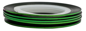 Tape line 4 - green shimmer - 1mm