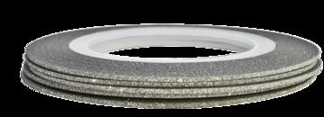Tape line 15 - glitter silver - 1mm