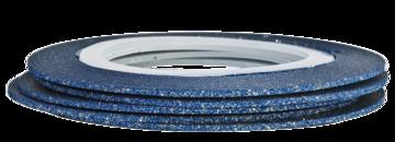 Tape line 16 -glitter blue - 1mm
