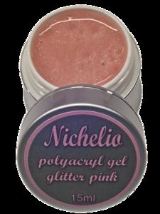 Gitter pink poly acrygel