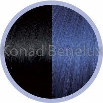 Hair extension Seiseta  1B/blue Zwart/blauw