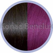 Hair extension Seiseta  4/red violet Bruin-rood-violet