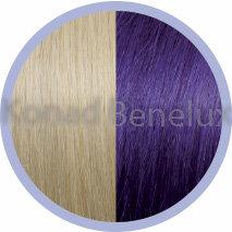 Hair extension Seiseta  20/violet Zeer licht blond-violet