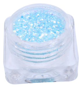 Glitter hexagonal