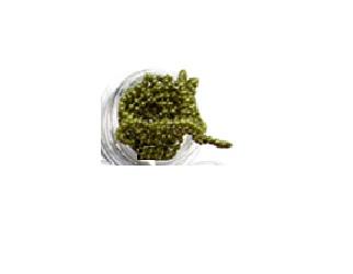 army-green chain nailart